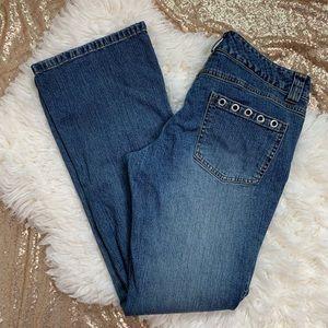 [Michael Kors] Grommet Studded Boot Cut Jeans